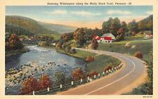 WILMINGTON, Vermont  ENTERING TOWN ALONG THE MOLLY STARK TRAIL  c1940's Postcard