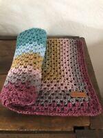 Cadeau naissance Couverture bébé grande taille pour couvre lit /poussette /tapis