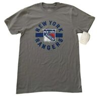 NHL New York Rangers Gray Team Logo T-Shirt Crew Neck Short Slv Men's Size S New
