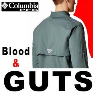 MENS COLUMBIA PFG BLOOD & GUTS III LONG SLEEVE WOVEN SHIRT UPF 50 FM7046-316 2XL