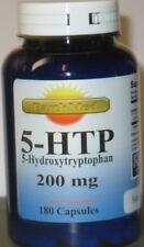 """5-HTP  200mg Large Bottle """"180 Capsules"""" Weight Management  Mood Serotonin FRESH"""