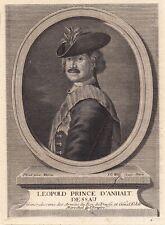 Portrait XVIIIe Leopold I Anhalt Dessau Preußen Prusse Der Alte Dessauer 1755