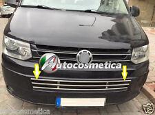 VOLKSWAGEN T5 T76 GRIGLIA CENTRALE PARAURTO ANTERIORE IN ACCIAIO CROMO