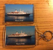 CMV MARCO POLO Photo Key Ring & Fridge Magnet Set - Cruise Ship Ocean Liner