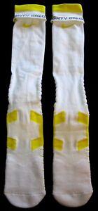 MIGHTY OREGON DUCKS YELLOW & WHITE MINT TEAM-ISSUE VAPOR FOOTBALL SOCKS XXL