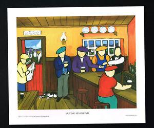 Buy His Round/Pub/Bar/N/Irish Art Group/Fine Print/Martin Laverty/Ireland/New