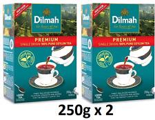 Premium Leaf Tea Dilmah Premium quality 100% pure Ceylon Tea 250g x 2 Boxes