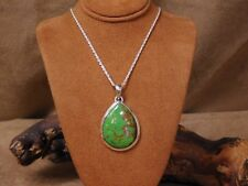 Sterling Silver and Gaspeite Necklace