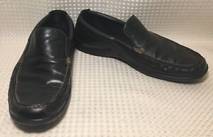 Cole Haan Loafers Leather Tucker Venetian Casual Slip On Black  Sz 11.5M