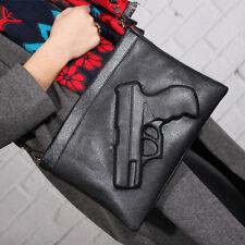 3D Gun Shoulder Punk Rock Pistol Handbag Purse Bag New Black Fashion For Women