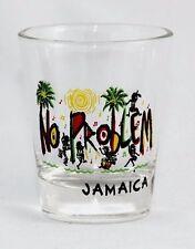 JAMAICA NO PROBLEM BEACH DANCING CARIBBEAN SHOT GLASS SHOTGLASS