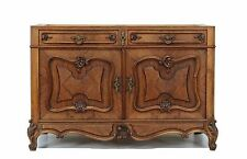 Antique Walnut French Louis XV Style Converted Sink Bath Vanity Chest