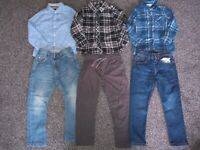 Boys Bundle Of 3 shirts, 2 jeans & trousers Age 2-3 Years Excellent Condition