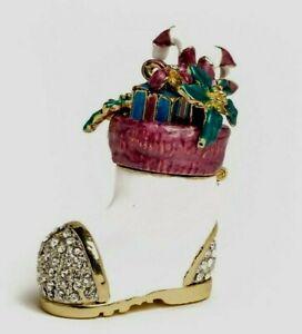 Christmas Shoe trinket box hand made by Keren Kopal & Austrian crystals
