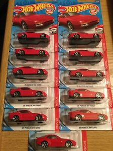 Hot Wheels 2020 #47 FIRST NEW MODEL 1989 89 PORSCHE 944 TURBO RED Lot Of 11