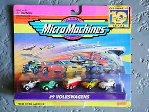 Micro Machines #9 Volkswagens NOS 1996 Galoob VW Beetle Cabriolet Microbus samba