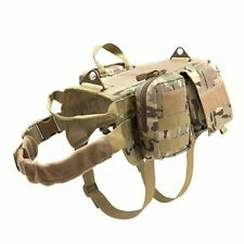 Dog Harness Fashion For Tactical Training Vest Pet With Detachable Pouch 1pc New