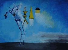Rare find Surrealism oil painting, Horse, Marked, signed, Salvador Dali