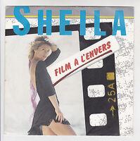 """SHEILA Vinyle 45T 7"""" FILM A L'ENVERS - GUERRIER MASSAIS - CARRERE 13593 F Réduit"""