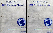 2001 Ford Focus Repair Shop Manual 2 Volume Set Workshop LX SE ZX3 ZTS Original