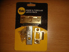YALE HINGE & TUBULAR LATCH PACK QUALITY FROM YALE NEW IN RETAIL PACKAGING