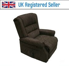 Willis & Gambier Full Flat Rise and Recline Electric Chair 804 Chocolate Brown