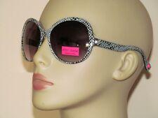 Betsey Johnson Retro Black & Gray Snake Print 100% UV Plastic Sunglasses