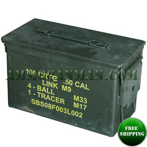 2 CANS Grade 1  50 cal empty ammo cans 2 Total  FREE SHIPPING