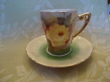 "Handpainted ""Made in Germany"" Demitasse Cup & Saucer"