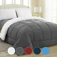 Equinox All-Season Charcoal Grey/White Quilted Comforter - Goose Down Alternativ