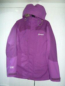 Ladies Purple Gore-tex Hooded Jacket by Berghaus in Size 10