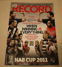 2011 AFL NAB Cup Football Record