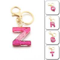 1PC Key Keychain Bag Pendant A-Z Alphabet Suspension DIY Resin Key Ring Trendy