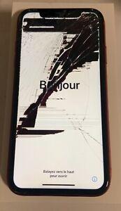 iPhone XR red rouge  64g ( pour Reparateur) pièces cassé hs