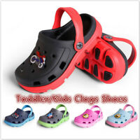Unisex Kids Garden Clogs Shoes Toddler Slip-on Casual Two-tone Slipper Sandals