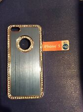 Blue Rhinestone iPhone 5 case