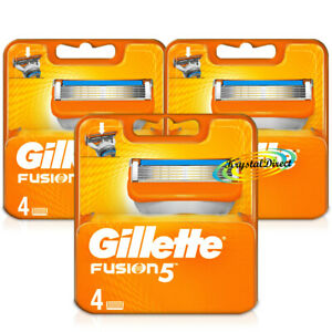 3x Gillette Fusion5 Pack of 4 Replacement Shaving Razor Blades 100% Genuine