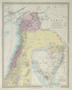 LEVANT. Syria Palestine Lebanon Israel Sinai. SDUK 1857 old antique map chart