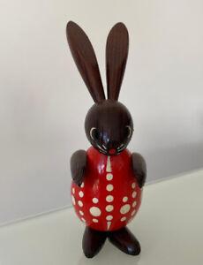 Wunderschöner alter Hase Osterhasen mit Eikörper Erzgebirge 1457/21