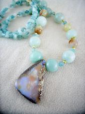 Boulder Opal Kette Schmuck Halskette Anhänger