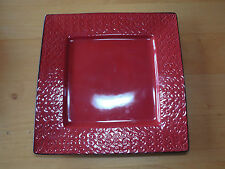 "Roscher VERONA RED SQUARE Dinner Plate 11"" 1 ea                     8 available"