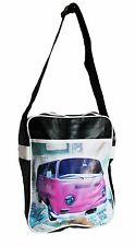 Retro overnight/gym/holdall/flight/school bag, black with PINK VW van camper new