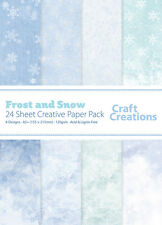 Craft Creations A5+ Scrapbook Paper Frost And Snow Assorted Pale Blues 120gsm