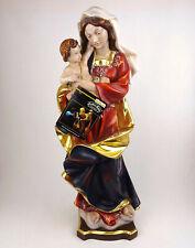 Religiöse Holzfigur Madonna mit Kind 60cm, WOLKENMADONNA, geschnitzt Südtirol