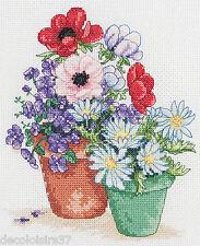 Garden Pots - Anchor PCE0502 - Kit broderie point de croix compté - 16.5*19.5 cm