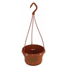 10 x Liliane 14cm plastic Small Hanging Plant Pots / Baskets Terracotta colour.
