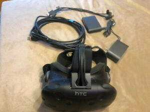 HTC Vive Virtual Reality Headset With controller box and cables...Free shipping