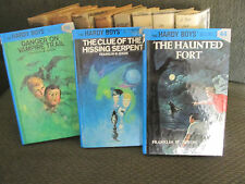 3 book lot the hardy boys mystery haunted fort clue of hissing franklin w. dixon