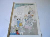 VINTAGE MAGAZINE AD #1329 - 1920 KALBURNIE ZEPHYR CLOTHING PATTERNS - PONY