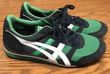 Vintage Asics Onitsuka Tiger HN201 Blue Green White Canvas Trainer Shoes Sz 6